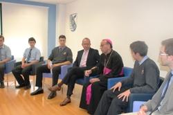 El obispo visita Las Fuentes