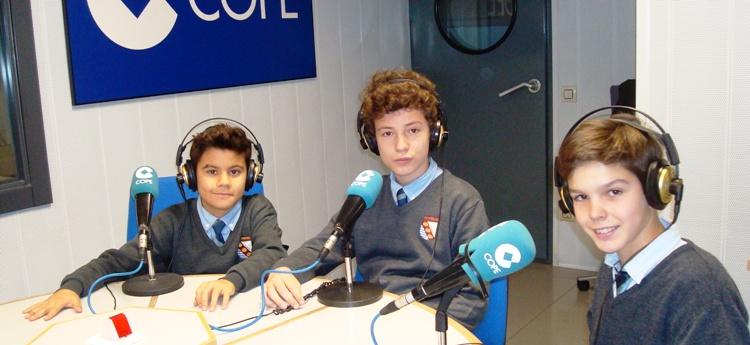Alumnos entrevistados en la COPE