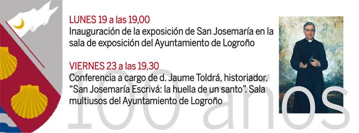Conmemoración del centenario de la llegada de san Josemaría a Logroño