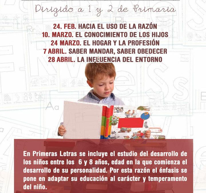 Curso de Orientación familiar: Primeras Letras
