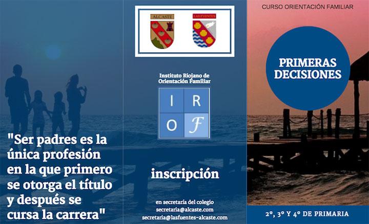 CURSO DE ORIENTACIÓN FAMILIAR. PRIMERAS DECISIONES