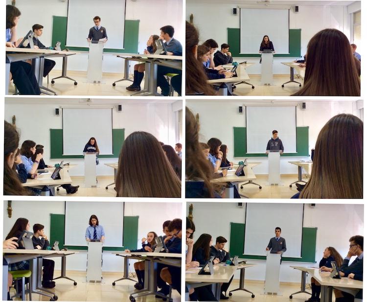 Debate en 4° de Secundaria entre alumnos de Alcaste-Las Fuentes