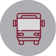 Servicio de transporte escolar en el Colegio Alcaste Las Fuentes en La Rioja.