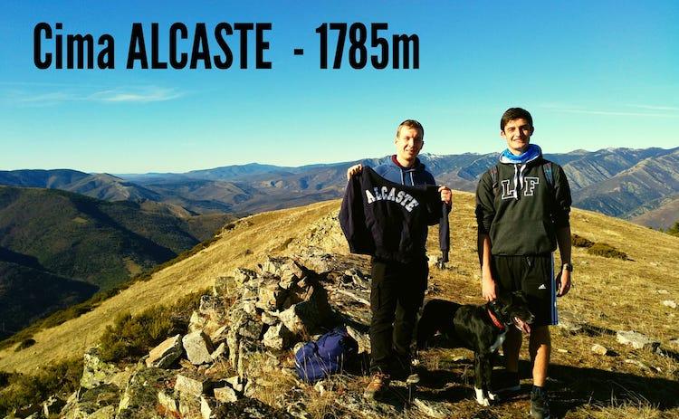 En la cima del Monte Alcaste
