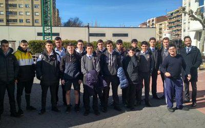 Alumnos de 1º de Bachillerato visitan las instalaciones de ASPACE