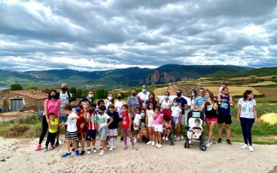 Gran marcha solidaria en Alcaste-Las Fuentes