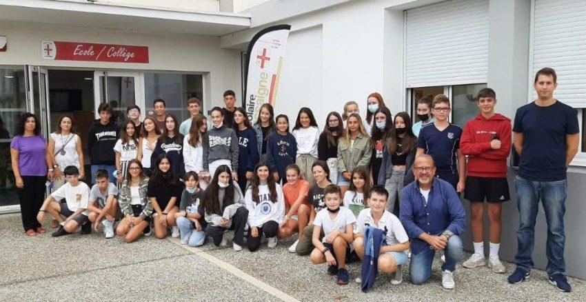Alumnos de Alcaste-Las Fuentes de intercambio en Francia